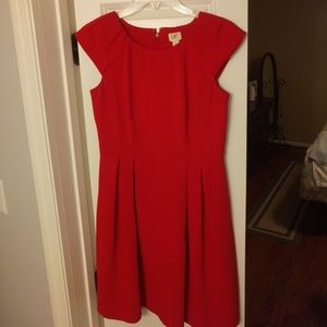 Red dress from LOFT